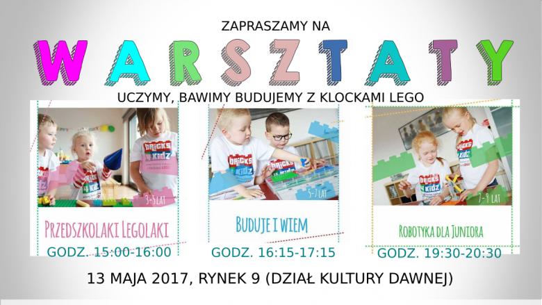 W Sławkowie w ramach Nocy Muzeów przwidziano szereg atrakcji dla dzieci i młodzieży (fot. mat. organizatora)