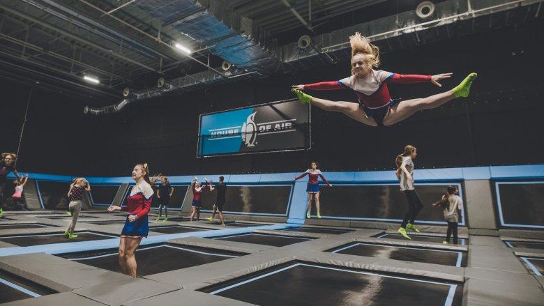 Główna strefa Parku House of Air jest złożona z50 trampolin (fot. mat. House Of Air)