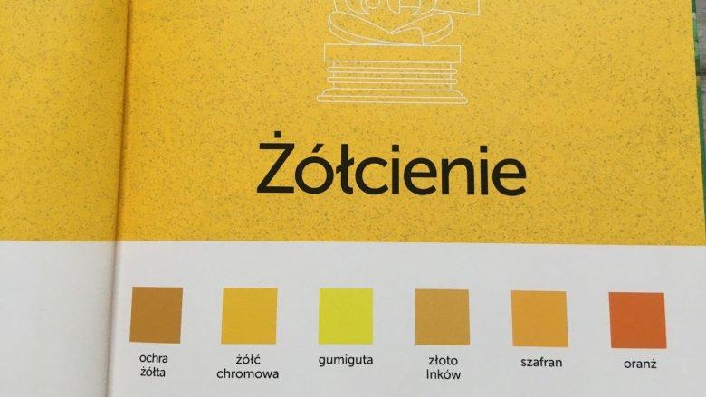 Z książki dowiemy się m.in. jak wiele jest odcieni jednego koloru (fot. Ewelina Zielińska/SilesiaDzieci.pl)