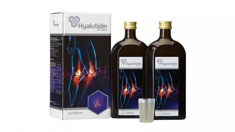 Hyalutidin HC Aktiv to smaczny płyn do picia, który zabezpiecza stawy przed wysychaniem i aktywuje komórki do własnej produkcji mazi stawowej (fot. mat. firmy Zdrowe Stawy Sp. z o.o.)