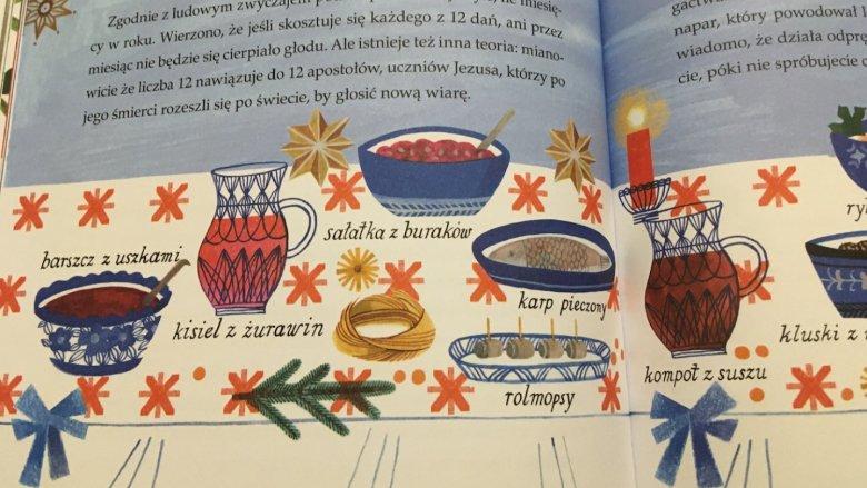 Książka przybliża wiele świątecznych zwyczajów (fot. Ewelina Zielińska/SilesiaDzieci.pl)