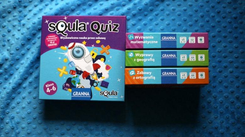 Quizy z serii Squla od wydawnictwa Granna to sposób na naukę przez zabawę (fot. Ewelina Zielińska)