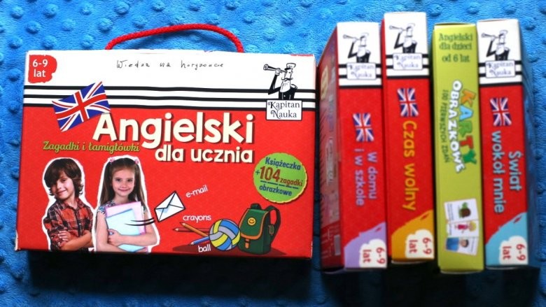 Zestawy do nauki angielskiego od Kapitana Nauki to świetne pomoce dla dzieci i rodziców (fot. Ewelina Zielińska)