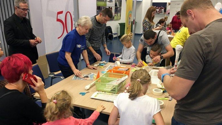 Duża popularnością cieszyły się warsztaty Uniwersytetu Śląskiego Dzieci (fot. mat. SilesiaDzieci.pl)