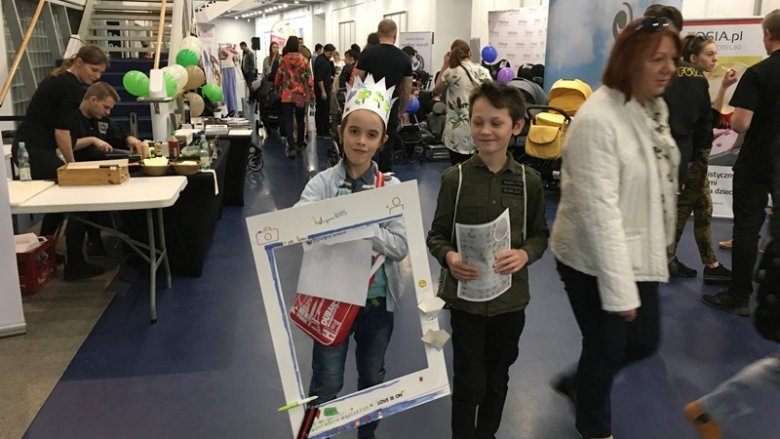 I młodsze i starsze dzieciaki świetnie bawiły się na targach SBKids (fot. mat. SilesiaDzieci.pl)