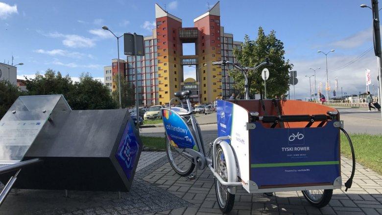 Od 18 maja do dyspozycji mieszkańców Tychów będą rowery transportowe CARGO - dostosowane do przewozu dzieci (fot. mat. UM Tychy)