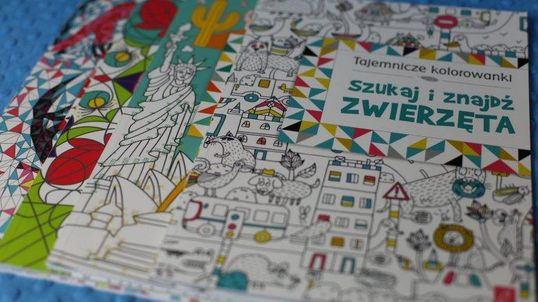 """""""Tajemnicze kolorowanki"""" to seria czterech kolorowanek od wydawnictwa WIlga (fot. Ewelina Zielińska)"""