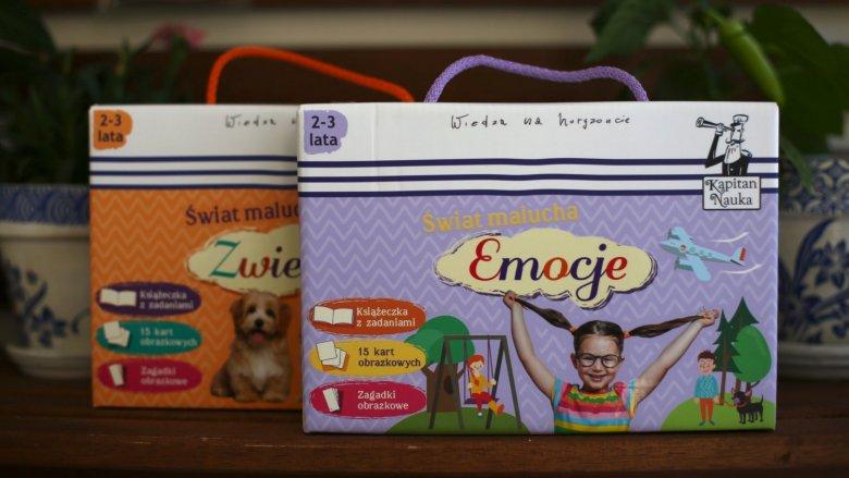 """""""Świat malucha"""" to pakiety edukacyjne dla dzieci w wieku 2-3 lata od Kapitana Nauki (fot. Ewelina Zielińska)"""