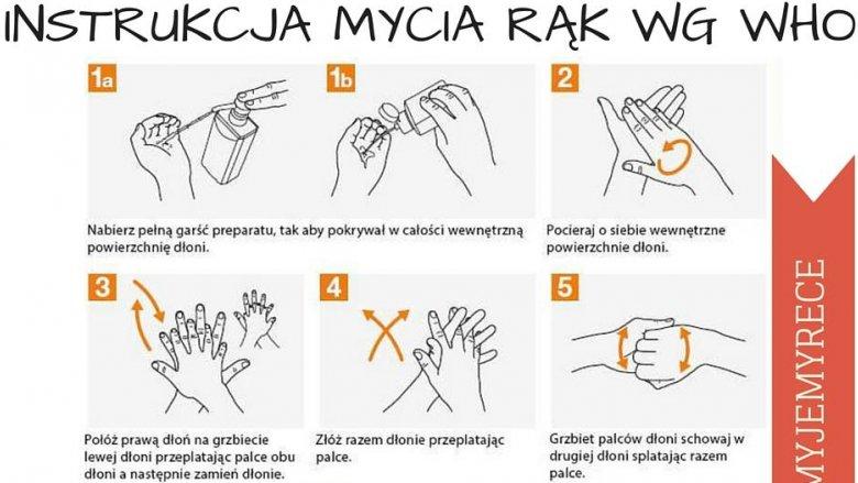 Warto zapoznać się z instrukcją dotyczącą prawidłowego mycia rąk (fot. mat. CPMR)