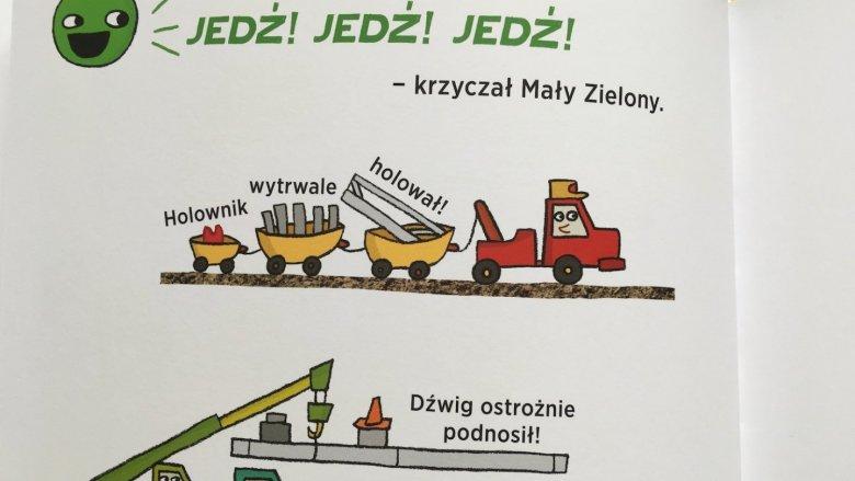 """Książka """"Jedź! Jedź! Stój!"""" wydawnictwa Babaryba, to świetna propozycja dla młodszych dzieci (fot. Ewelina Zielińska/SilesiaDzieci.pl)"""
