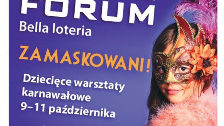 Dzieci będą robić karnawałowe maski