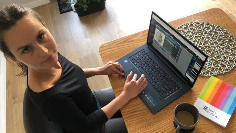 """Katarzyna Mrówka została wyróżniona w konkursie """"Interaktywne lekcje z klasą – mój sposób na zdalne nauczanie!"""" (fot. mat. organizatora)"""