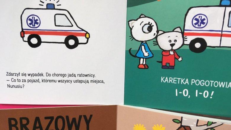 Ilustracje są proste i w żywych kolorach (fot. Ewelina Zielińska/SilesiaDzieci.pl)