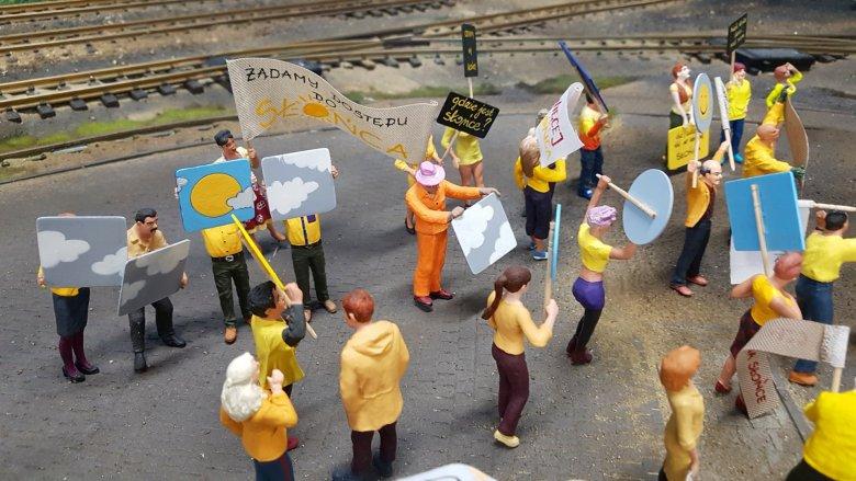 Strajk w Kolejkowie (fot. mat. organizatora)