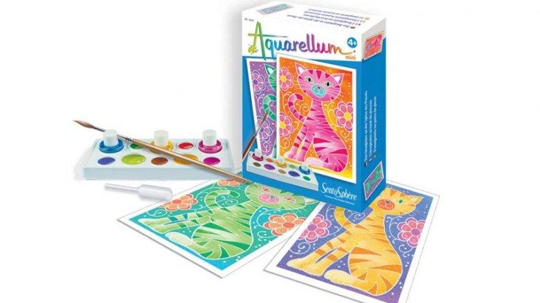 Zestaw Aquarellum francuskiej marki SentoSphere przeznaczony jest dla dzieci od 5. roku życia (fot. mat. sklep.PlacFrancuski.pl)