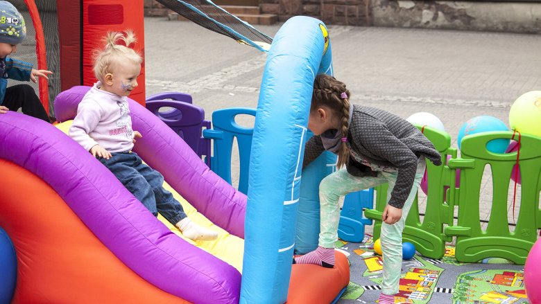 Na mikołowskim rynku podobnie jak w ubiegłym roku, o najmłodsze szkraby zadba Kraina Czarów (fot. Katarzyna Szawińska)