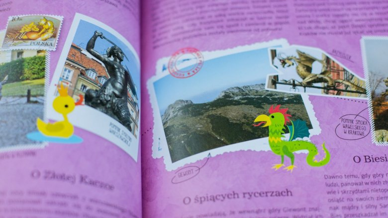 Wnętrze przewodnika jest kolorowe, pełne ilustracji i zdjęć (fot. Ewelina Zielińska)