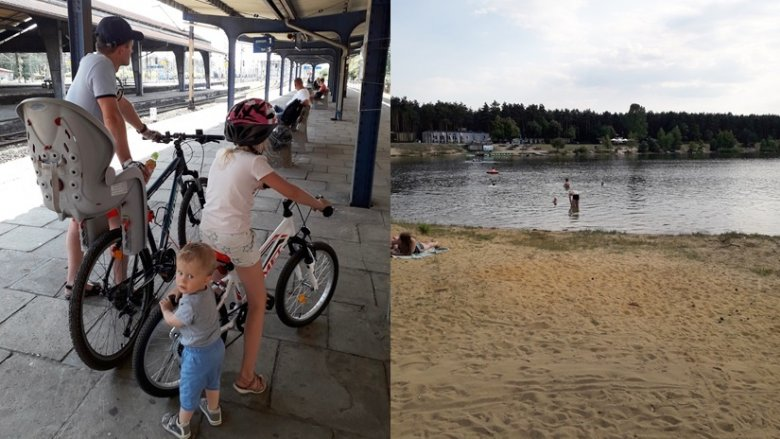 W relacji Katowice-Lubliniec obowiązuje promocja - darmowy przewóz rowerów (fot. Agnieszka Mróz/SilesiaDzieci.pl)
