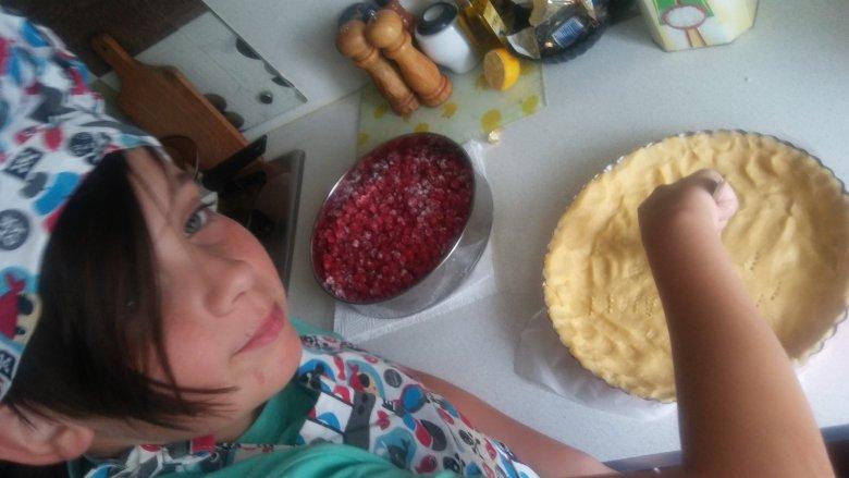 Wykonawcą zwycięskiej tarty z porzeczkami jest 11-letni Maciek Korpula (fot. Justyna Korpula)
