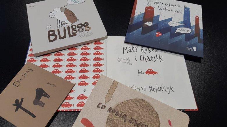 Książki Justyny Stefańczyk dwukrotnie znalazły się w TOP 10 BOOK DESIGN AWARD, COW International Design Festival (fot. mat. organizatora)