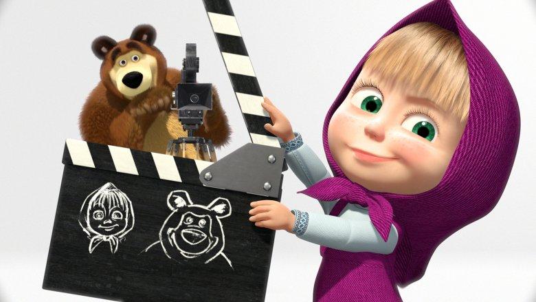 Masza i Niedźwiedź to jedni z ulubionych bohaterów najmłodszych widzów (fot. mat. prasowe)