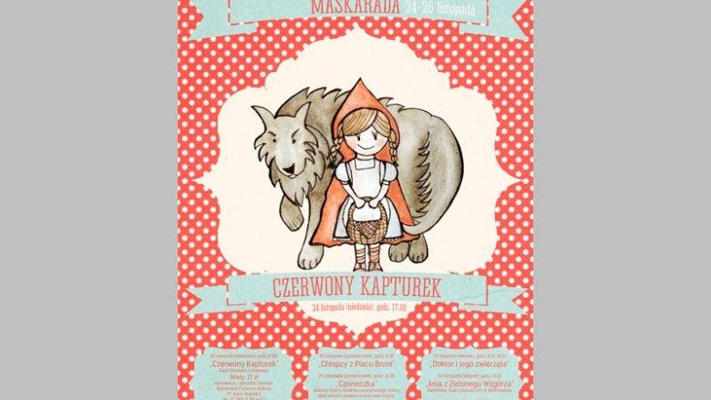 """Spektaklem """"Czerwony Kapturek"""" otwarty zostanie Festiwal Teatralny dla Dzieci Maskarada (fot. materiały prasowe)"""