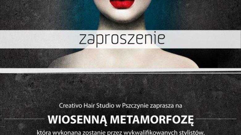 W naszym konkursie można wygrać zaproszenie na metamorfozę (fot. materiały  Creativo Hair Studio)