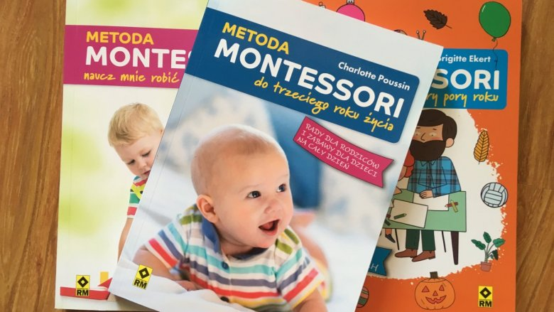 """""""Metoda Montessori do trzeciego roku życia""""  to kolejny tom książek o tej tematyce wyd. RM (fot. Ewelina Zielińska/SilesiaDzieci.pl)"""