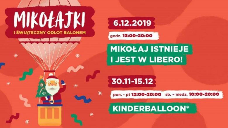 Galeria Libero przygotowała na mikołajki wiele atrakcji - w tym lot balonem (fot. mat. organizatora)
