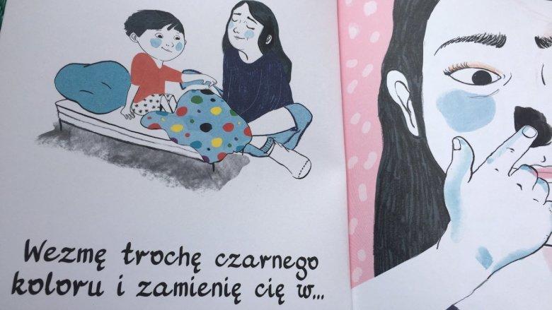 Prosta, oparta bardziej na obrazie niż na tekście historia, to świetna okazja do wyciszenia malucha (fot. Ewelina Zielińska/SilesiaDzieci.pl)