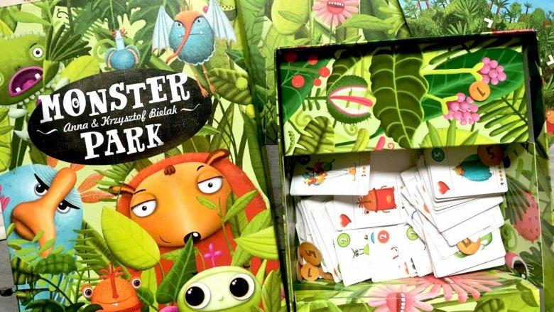 """""""Monster Park"""" to kolorowa propozycja od wydawnictwa Granna (fot. Ewelina Zielińska/SilesiaDzieci.pl)"""