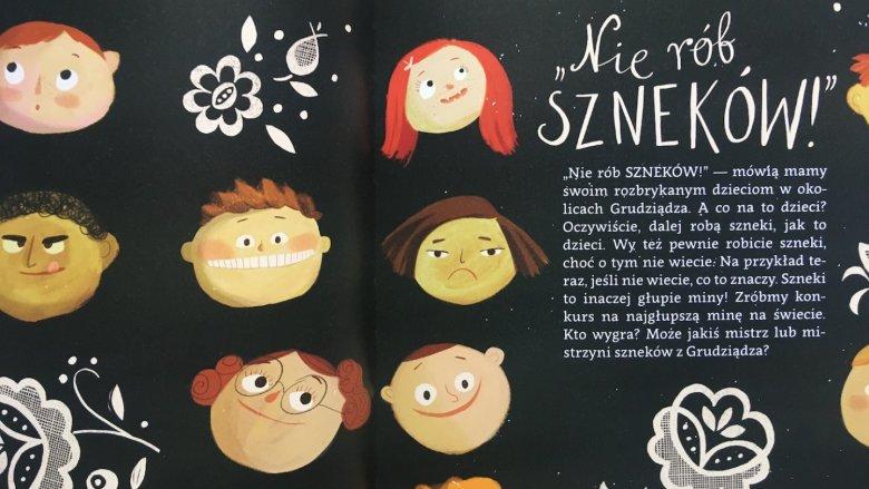 Ilustracjom Joanny Rusinek nie brakuje humoru (fot. mat. Ewelina Zielińska/SilesiaDzieci.pl)