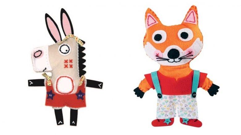 Każda maskotka jest inna. Wszystkie wykonane są z filcu, wypełnienia i dodatków (fot. mat. sklep.placfrancuski.pl)