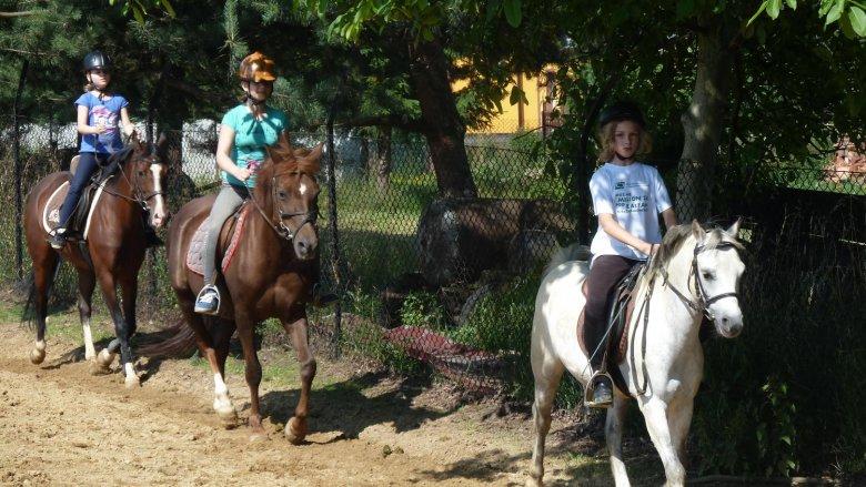 Półkolonie jeździeckie to świetny pomysł na aktywne spędzenie wakacji (fot. materiały pony-sport.pl)