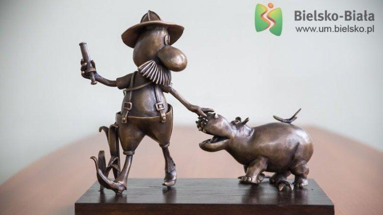 Rzeźba Pampaliniego dołączy do grona bajkowych pomników w Bielsku-Białej (fot. mat. UM Bielsko-Biała)