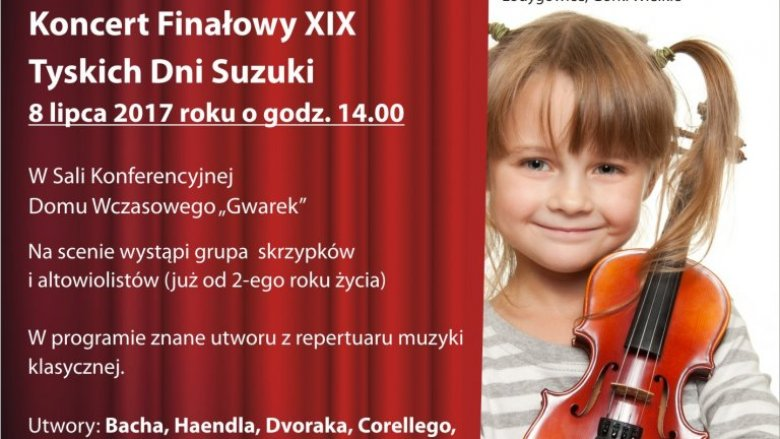 Patronujemy pokazowi talentów młodych muzyków z Tyskiej Szkoły Suzuki (fot. mat. organizatora)