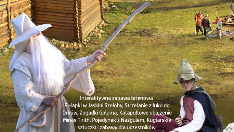 """""""Podróż z Gandalfem"""" to interaktywna zabawa plenerowa osadzona w realiach Śródziemia (fot. mat. organizatora)"""