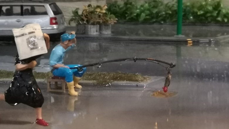 Na wystawie regularnie pada deszcz (fot. mat. organizatora)