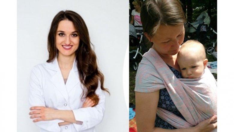 Po lewej - Ewelina Ozimek, dietetyk kliniczny, po prawej - Katarzyna Franke - certyfikowany Doradca Noszenia w chustach i nosidłach miękkich ClauWi (fot. archiwum zdjęć specjalistek)