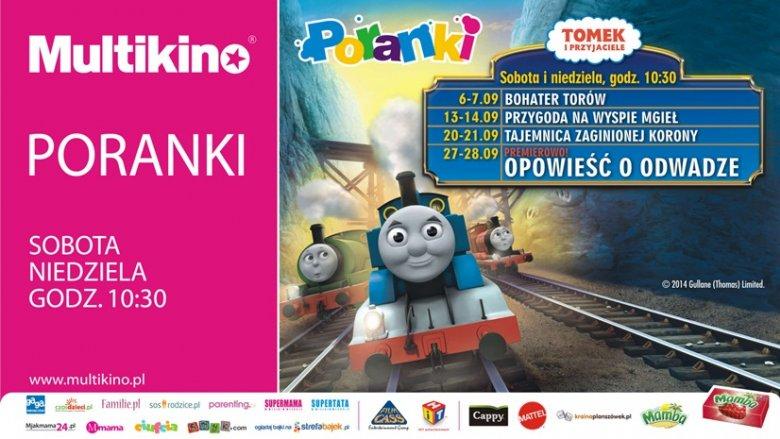 W październiku w Multikinie maluchy spotkają się także z lokomotywą Tomkiem i jego przyjaciółmi (fot. materiały Multikina)