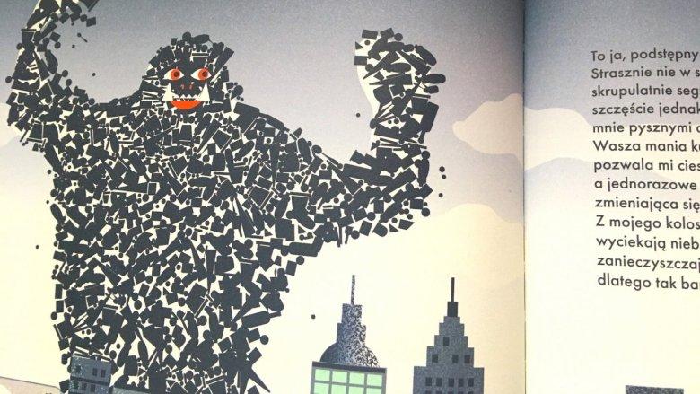 Na każdej stronie czytelnicy poznają nowego potwora (fot. Ewelina Zielińska/SilesiaDzieci.pl)