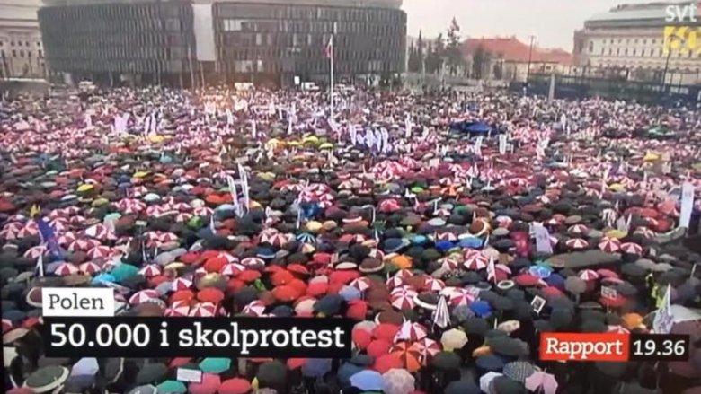 Strajk nauczycieli. Listopad 2016 r. (fot. archiwum zdjęć na Fb ZNP)