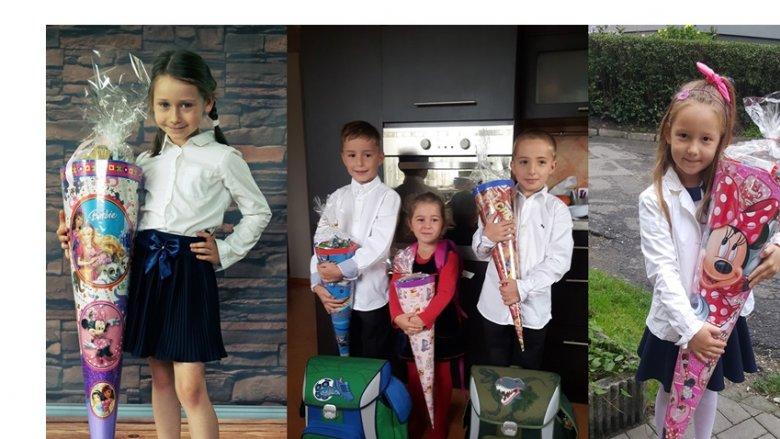 Na zdjęciu po lewej - pierwszoklasistka Aleksandra, w środku rodzeństwo: Jaś, Ula i Karol, ostatnia fotografia przedstawia Emikę (fot. archiwum zdjęć czytelników)