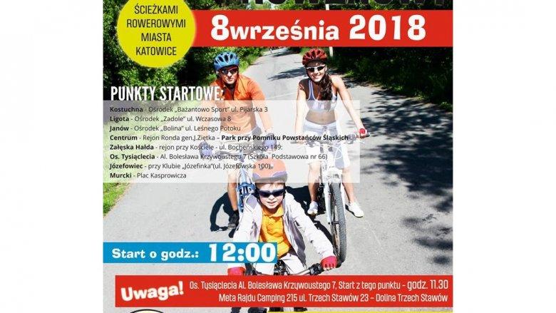 19. Rekreacyjny Rajd Rowerowy odbędzie się 8 września w Katowicach (fot. mat. organizatora)