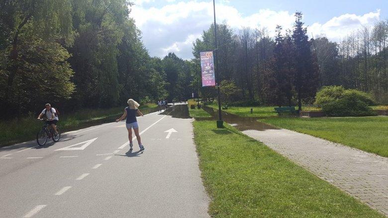 Nowy odcinek rolkostrady w Dolinie Trzech Stawów został otwarty pod koniec czerwca (fot. archiwum zdjęć na Fb - 3 Stawy Katowice)