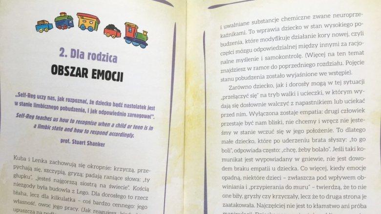 Każdy z rozdziałów zawiera opowiadanie oraz kilkustronicowe omówienie skierowane do rodzica (fot. Ewelina Zielińska/SilesiaDzieci.pl)