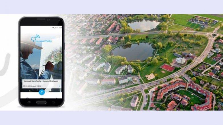 Jakość powietrza w Tychach można sprawdzać w aplikacji mobilnej TREESPOT TYCHY (fot. mat. UM Tychy)