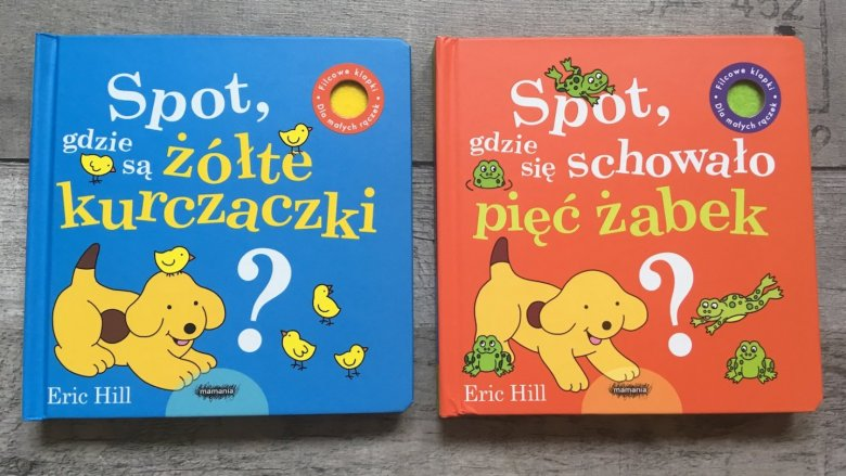 Seria książeczek o Spocie liczy sobie już kilkanaście części (fot. mat. Ewelina Zielińska/SilesiaDzieci.pl)