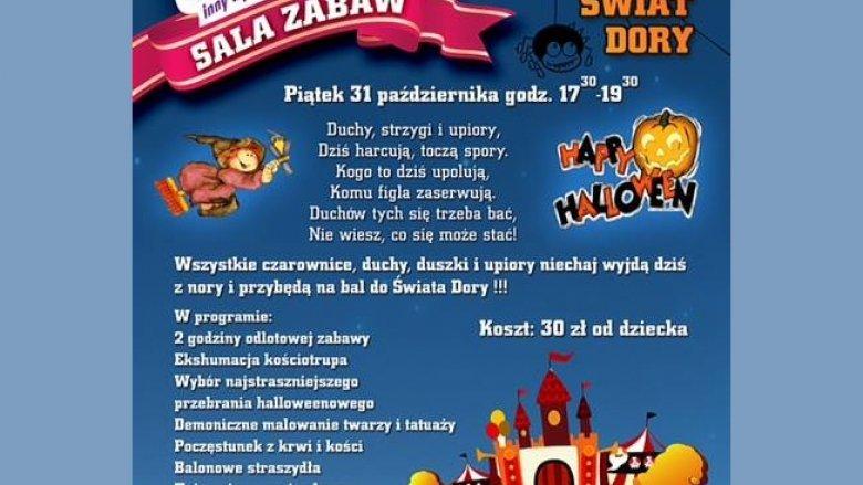 Świat Dory zaprasza na halloweenową zabawę (fot. materiały organizatora)