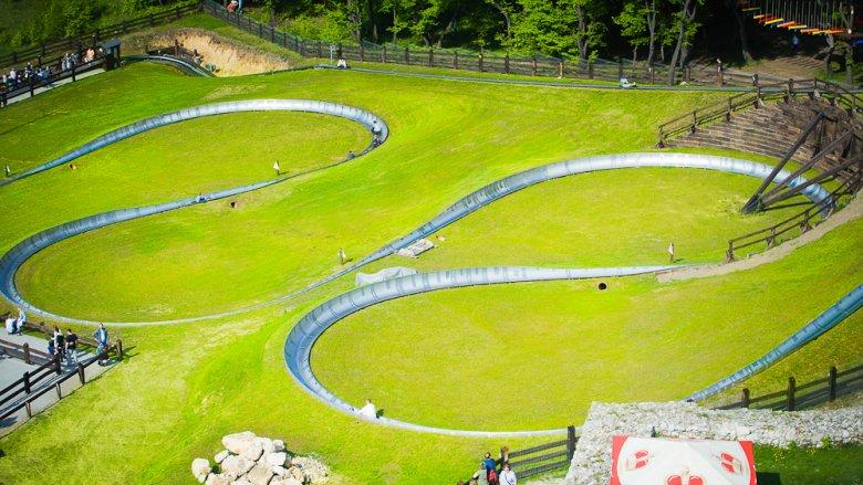 W Parku Ogrodzieniec można także poszaleć na torze saneczkowym (fot. mat. organizatora)